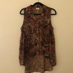 UO Pins and Needles Floral Tank Top
